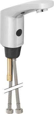 Смеситель бесконтактный тип 185 для умывальника с внутренней регулировкой температуры, батарея 6В Geberit 116.245.21.1