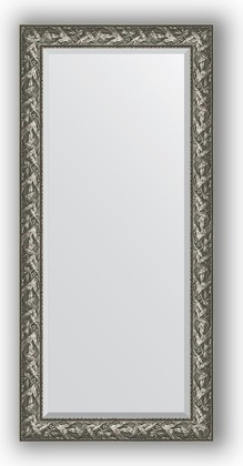 Зеркало с фацетом в багетной раме 79x169см византия серебро 99мм Evoform BY 3598