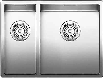 Кухонная мойка основная чаша справа, без крыла, нержавеющая сталь зеркальной полировки Blanco CLARON 340/180-U 517227