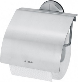 Держатель для туалетной бумаги с крышкой, матовая сталь Brabantia Profile 427626