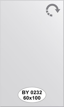 Зеркало 60x100см с фацетом 5мм Evoform BY 0232