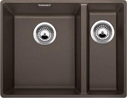 Кухонная мойка без крыла, с клапаном-автоматом, гранит, кофе Blanco SUBLINE 340/160-F 519807