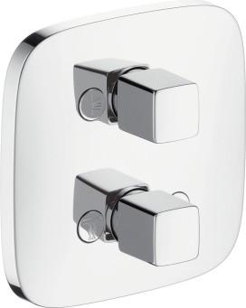 Запорный/переключающий вентиль для душа на 3 потребителя воды, хром / белый Hansgrohe PuraVida iControl 15777400