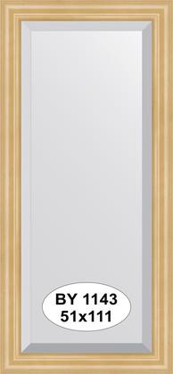 Зеркало 51x111см с фацетом 30мм в багетной раме сосна Evoform BY 1143