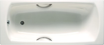 Стальная ванна 170х75см с отверстиями под ручки белая Roca SWING 2201E0000