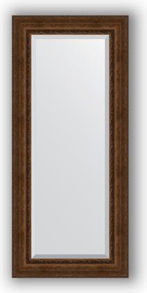 Зеркало с фацетом в багетной раме 72x162см состаренная бронза с орнаментом 120мм Evoform BY 3585