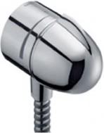 Шланговое подсоединение со встроенным запорным вентилем, хром Hansgrohe Fixfit Stop 27452000