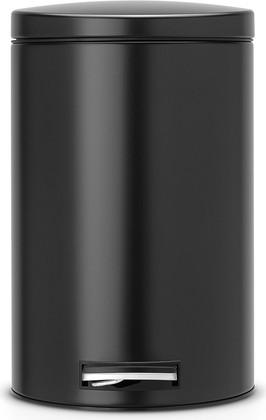 Ведро для мусора 12л с педалью, MotionControl, чёрное матовое Brabantia 478109