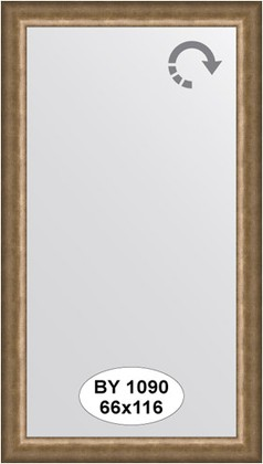 Зеркало 66x116см в багетной раме старая бронза Evoform BY 1090
