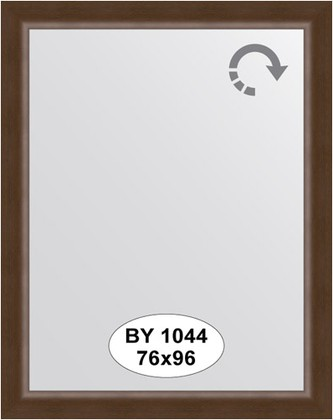 Зеркало 76x96см в багетной раме орех Evoform BY 1044
