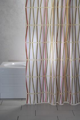 Штора для ванны 240x200см текстильная мультиколор Grund BAMBOO 2122.99.0098