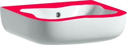 Мини-раковина 450x410мм, белая с красным Laufen FLORAKIDS 8.1503.1.062.104.1