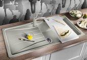 Кухонная мойка оборачиваемая с крылом, гранит, антрацит Blanco SONA XL 6 S 519689