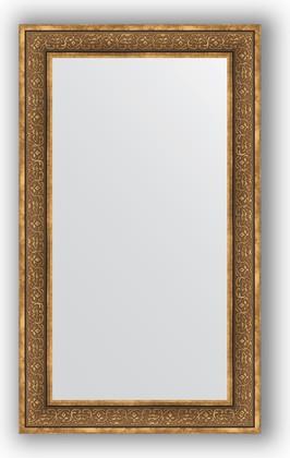 Зеркало в багетной раме 73x123см вензель бронзовый 101мм Evoform BY 3223