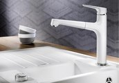 Смеситель кухонный однорычажный с высоким выдвижным изливом, алюметаллик Blanco FELISA-S 520339