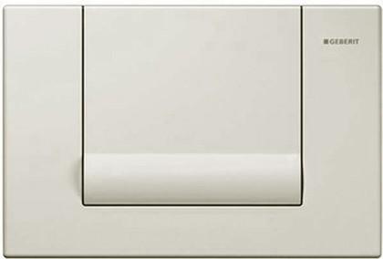 Смывная металлическая клавиша для одинарного смыва, белый Geberit Tango 115.760.11.1