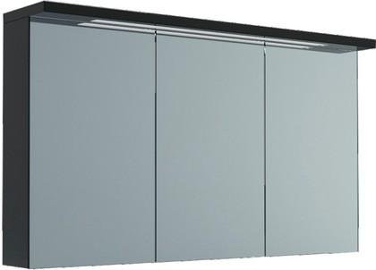 Шкаф зеркальный подвесной со светильником, 3 двери 120x23x73см Verona Viva VA607