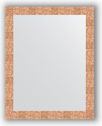 Зеркало в багетной раме 76x96см соты медь 70мм Evoform BY 3274