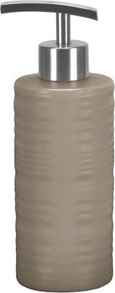Ёмкость для жидкого мыла высокая керамическая песочная Kleine Wolke SAHARA 5046133854
