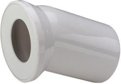 Присоединительный белый пластиковый отвод 22.5° для унитаза, 150мм Viega 101855