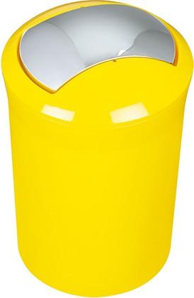 Ведро для мусора 5л жёлтое Spirella SYDNEY Acrylic 1014381