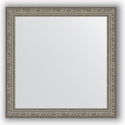 Зеркало в багетной раме 64x64см виньетка состаренное серебро 56мм Evoform BY 3136