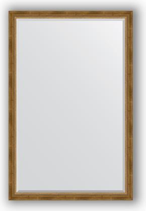Зеркало с фацетом в багетной раме 113x173см состаренное бронза с плетением 70мм Evoform BY 3614
