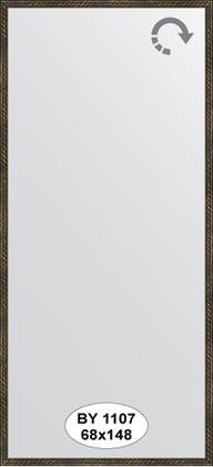 Зеркало 68x148см в багетной раме витая бронза Evoform BY 1107