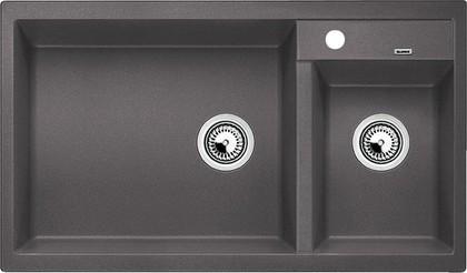 Кухонная мойка основная чаша слева, без крыла, гранит, тёмная скала Blanco METRA 9 518886