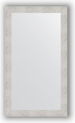 Зеркало в багетной раме 66x116см серебреный дождь 70мм Evoform BY 3208