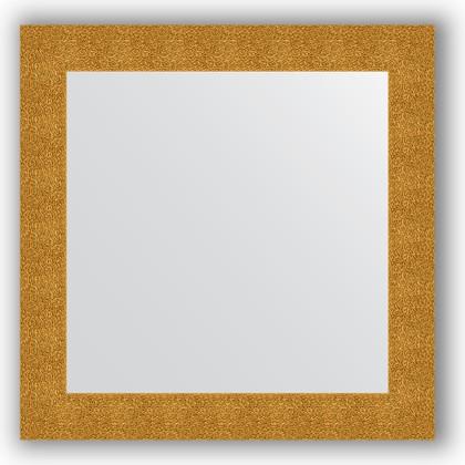 Зеркало в багетной раме 80x80см чеканка золотая 90мм Evoform BY 3246