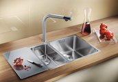 Кухонная мойка без крыла, нержавеющая сталь зеркальной полировки Blanco ANDANO 400/400-IF 518327