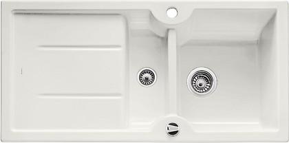Кухонная мойка оборачиваемая с крылом, с клапаном-автоматом, керамика, белый матовый Blanco IDESSA 6 S 516001