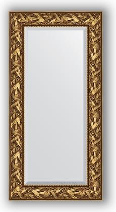 Зеркало с фацетом в багетной раме 59x119см византия золото 99мм Evoform BY 3493