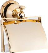 Держатель туалетной бумаги с крышкой, золото TW Harmony TWHA219oro
