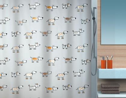 Штора для ванны 180x200см с рисунком Spirella DOGGI 1016746