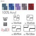Размеры, цвета и формы ковриков для ванны и туалета от Spirella коллекции Bond