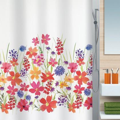 Штора для ванны 180x200см текстильная мультиколор Spirella CAMPO 1016402
