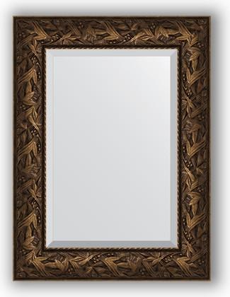 Зеркало с фацетом в багетной раме 59x79см византия бронза 99мм Evoform BY 3391