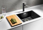 Кухонная мойка, гранит белый / нержавеющая сталь, Blanco SUBLINE 500-IF SteelFrame 521016