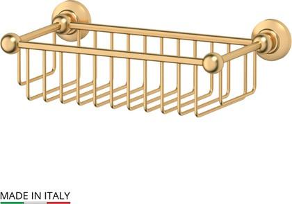 Полочка-решётка для ванной, матовое золото 3SC STI 307