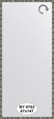 Зеркало 67x147см в багетной раме серебро-бамбук Evoform BY 0762