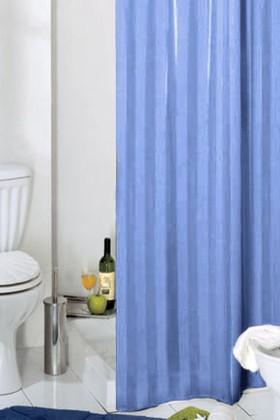 Штора для ванны 180x200см текстильная синяя с кольцами Grund RIGONE 804.98.018