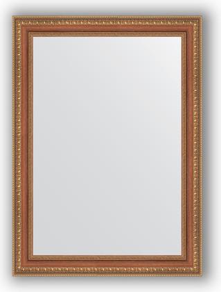Зеркало в багетной раме 55x75см бронзовые бусы на дереве 60мм Evoform BY 3043