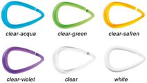 Кольца для шторы прозрачно-зелёные Spirella DROP 1014719