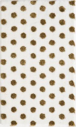 Коврик для ванной 60x100см белый с золотым люрексом Grund BINDU 3617.16.040