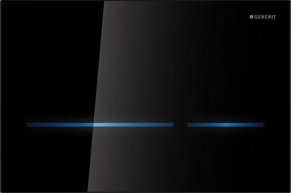 Смывная бесконтактная клавиша для двойного смыва, чёрное стекло Geberit Sigma80 116.091.SG.1