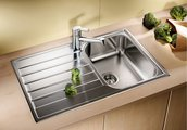 """Кухонная мойка оборачиваемая с крылом, нержавеющая сталь """"декор"""" Blanco LIVIT 45 S Salto 514787"""