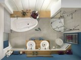 Ванна стальная 170x90см с полистироловой подушкой и панелью Kaldewei STUDIO правая 826-3 2222.4803.0001