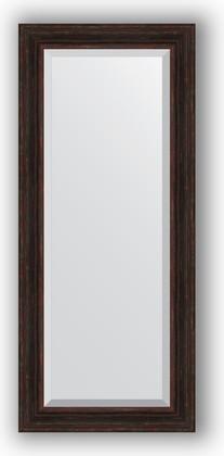 Зеркало с фацетом в багетной раме 69x159см темный прованс 99мм Evoform BY 3577